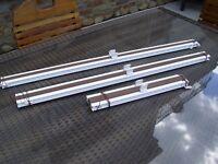 Plissee - Marke Teba (Luxaflex für Fenster, Sonnenschutz - Braun - 3 Stück