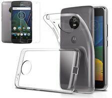 Claro caso de gel Delgado Y Vidrio Protector de pantalla para Motorola Moto G5 (2017)