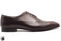 Scarpe eleganti formali Oxford da uomo in vera pelle marrone scuro fatte a mano