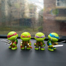 Teenage Mutant Ninja Turtles TMNT Set of 4 Mini Figures PVC Dolls Car Decor Gift