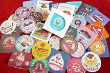 1 box 38 PCS deco cup cake sweet bakery diary sealing paper Crafts sticker