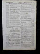 1597 GENEVA  BIBLE LEAF PAGE * BOOK OF PSALMS 84:1-89:9 * DESIRE OF THE GODLY *