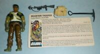 1985 GI Joe Mountain Climber Trooper Alpine v1 Figure w/ File Card & Accessories