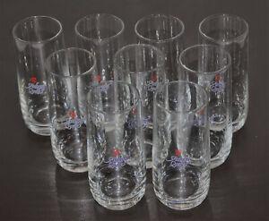 9 Auburg Quelle Wasser Trink Gläser Glas 0,2 l 200 ml 12,5 cm ∅ 5 cm WERBUNG