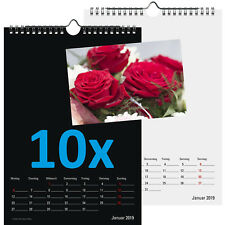 10er Set Bastelkalender 2019 A4 Fotokalender zum Basteln Sparset DIY 10 Stück