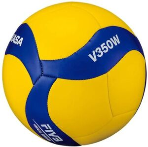 Mikasa V350W Recreational Volleyball Size 5 Blue Yellow