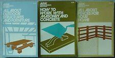 HOME IMPROVEMENT BOOKS (3) 1971 (MASONRY/CONCRETE, FENCES, OUTDOOR STRUCTURES +