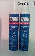 2 NEW OZIUM ORIGINAL 8 oz Air Freshener CANS Air Sanitizer Smoke Odor Eliminator