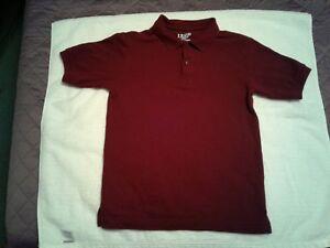 IZOD:  Boy's CrimsonTwo Button Short Sleeve Shirt M/M (10/12)