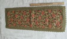 "Vintage Brocade Gold Runner Thread Dresser Doily Tapestry 9 1/2"" x 24 3/8"""