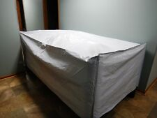 "Log Lumber Firewood and Debris Cover Tarp 51"" x 98"" x32""  (5 sided box) wht/blk"