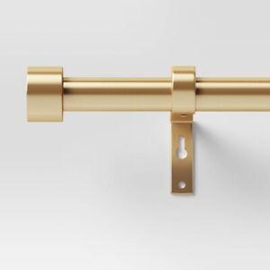 "PROJECT 62 Dauntless Curtain Rod   Brass   66"" - 120""   🆕"