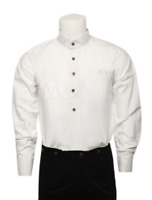 Men's Vintage Costume Victorian White steampunk Shirt Costume casual Top