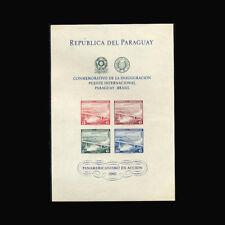 Paraguay, Sc #C277a, MNH, 1961, S/S, Int'l bridge, Brazil/Paraguay, FIDD-9