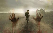 "The Walking Dead 1 2 3 4  TV Zombie Poster 21"" x 13"" Decor 78"