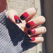 1 Set Fashion Short Acrylic Nail Tips Square Full Cover False Nails With Glue