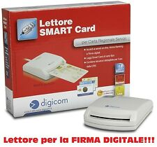 Lettore di Smart Card USB DIGICOM 8E4479 Firma Digitale CNS CRS CIE  Win  Mac