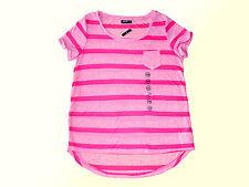 Haut pour Femmes T-Shirt Chemise Longue Tunique Chemise Décontractée Rayé Gr. 38