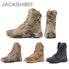 Herren Tactical Stiefel wanderschuhe outdoor boots militär kampfstiefel zipper