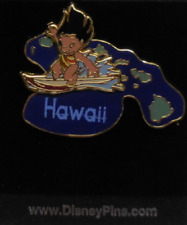 DISNEY OFFICIAL STATE TRADING PIN LILO AND STITCH HAWAII SURFING BRAND NEW