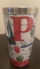 Vintage Starbucks Coffee Christmas Holiday Travel Cup Mug Tumbler 16oz No Lid