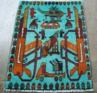 Afghan Hand made war rug showing tanks, helicopter, weapons