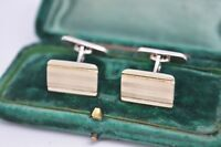 Vintage .800 Silver cufflinks with an Art Deco style #B789