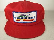 Vintage Hobie Cat Baseball/Trucker Hat w/PATCH Sailing Catamaran Hawaii RaRe EX