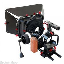 Camtree Cage Rig Kit for BMCC with 15mm Rod Follow Focus Matte Box fr Film Video