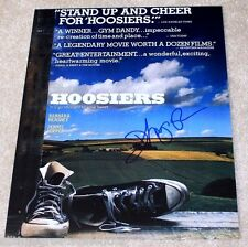DIRECTOR DAVID ANSPAUGH HAND SIGNED 'HOOSIERS' 11X14 MOVIE POSTER PHOTO W/COA