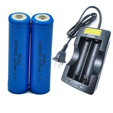 2 18650 Battery Lithium Mod Vape Rechargeable Batteries 2600mAh 3.7V + Charger