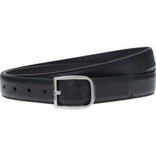GUCCI Grain Leather Belt with Silver Buckle - Black - W42/105