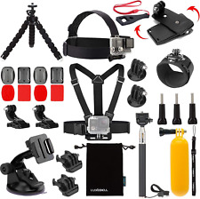 Luxebell Accessories Kit For Akaso Ek5000 Ek7000 4K Wifi Action Camera Gopro Her