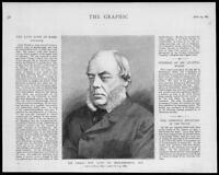 1883 Antique PORTRAIT Print Duke Marlborough John Winston Spencer Churchill (59)
