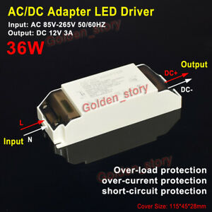Mini AC-DC Converter 12V 3A 36W LED Driver Adapter Switching Power Supply Module
