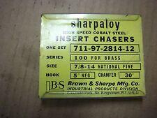 """A NEW SET OF B & S -7/8""""-14 NF-FOR BRASS CHASERS FOR A 100 or 101 H & G DIE HEAD"""