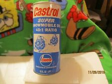 Castrol Super Snowmobile Oil 40:1 Ratio 16 oz Pint Fiber Can Full Made by USA