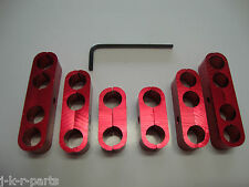 SPARK PLUG WIRE SEPARATORS ALUMINUM RED 8MM 9.5MM LOOMS 302 350 454 #9570RD