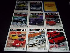 2000 CAR AND DRIVER MAGAZINE LOT OF 11 ISSUES - NICE AUTOMOBILE COVERS - M 646