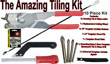 Tile Cutter Kit, 13 piece tiling kit, with diamond holesaws, Jigsaws, Tile drill