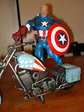 Marvel Icon Captain America w/ Custom Bike HandmadeTin