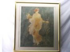 GRECIAN FLOWER GIRL ART PROFESSIONALLY GOLD FRAMED !