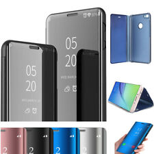 Samsung Galaxy S8 S8Plus Clear Smart View Mirror Leather Flip Stand Case Cover