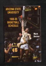 Arizona State Sun Devils--1988-89 Basketball Pocket Schedule--Miller Lite