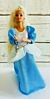 "MATTEL BARBIE Doll Blonde Hair Blue Eyes Blue Outfit 12"" Tall Used Free Shipping"