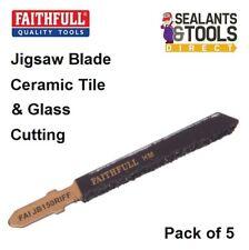 Faithfull Tungsten Carbide Glass Ceramic Tile Jigsaw Blade 5 Pack Jig Saw TCT