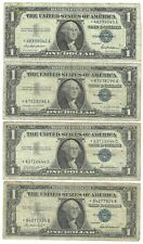 Lot of (4) 1957 **STAR** Notes - Circulated $1 One Dollar SILVER CERTIFICATES