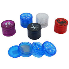 Plastic 4 Part Leaf Plain Designs Shark Teeth Plastic Tobacco Weed Herb Grinder