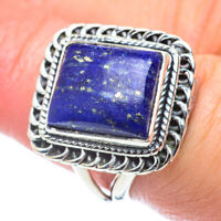 Lapis Lazuli 925 Sterling Silver Ring Size 7.25 Ana Co Jewelry R57658F