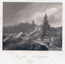 DIE HAMMERSCHMIEDE-Schweden-St.St. von French nach Ezdorf um 1840-11,0x15,8 cm